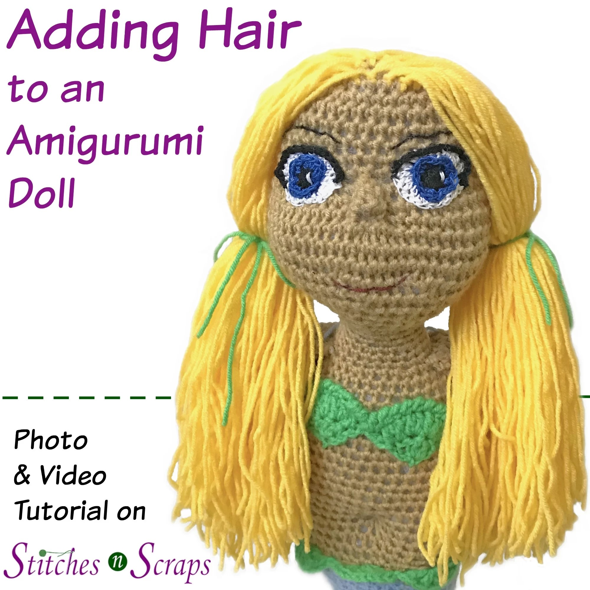How to Crochet Dolls Hair (easy) (FREE Crochet Patterns) | Crochet ... | 2000x2000