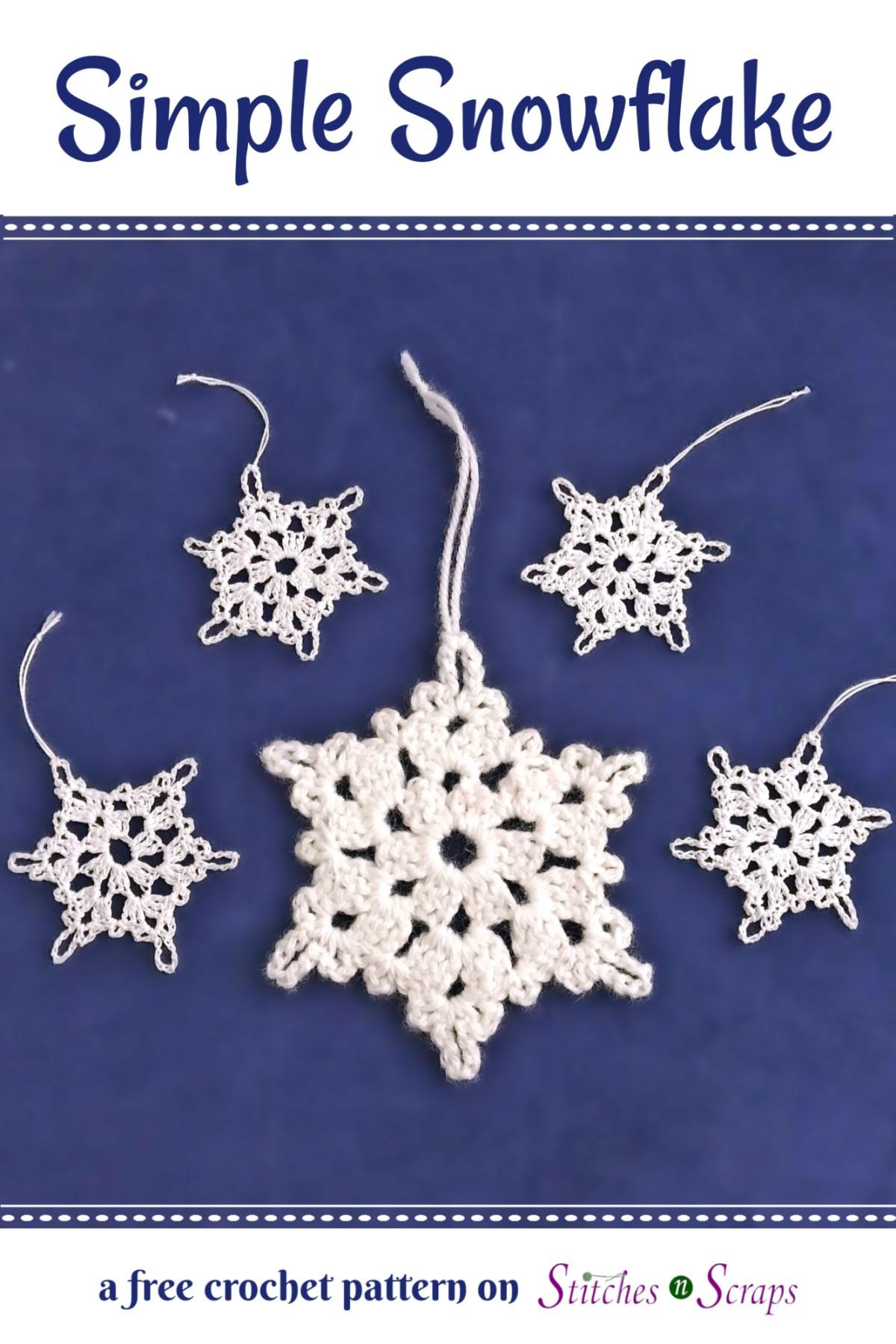 Free Pattern Simple Snowflake Stitches N Scraps