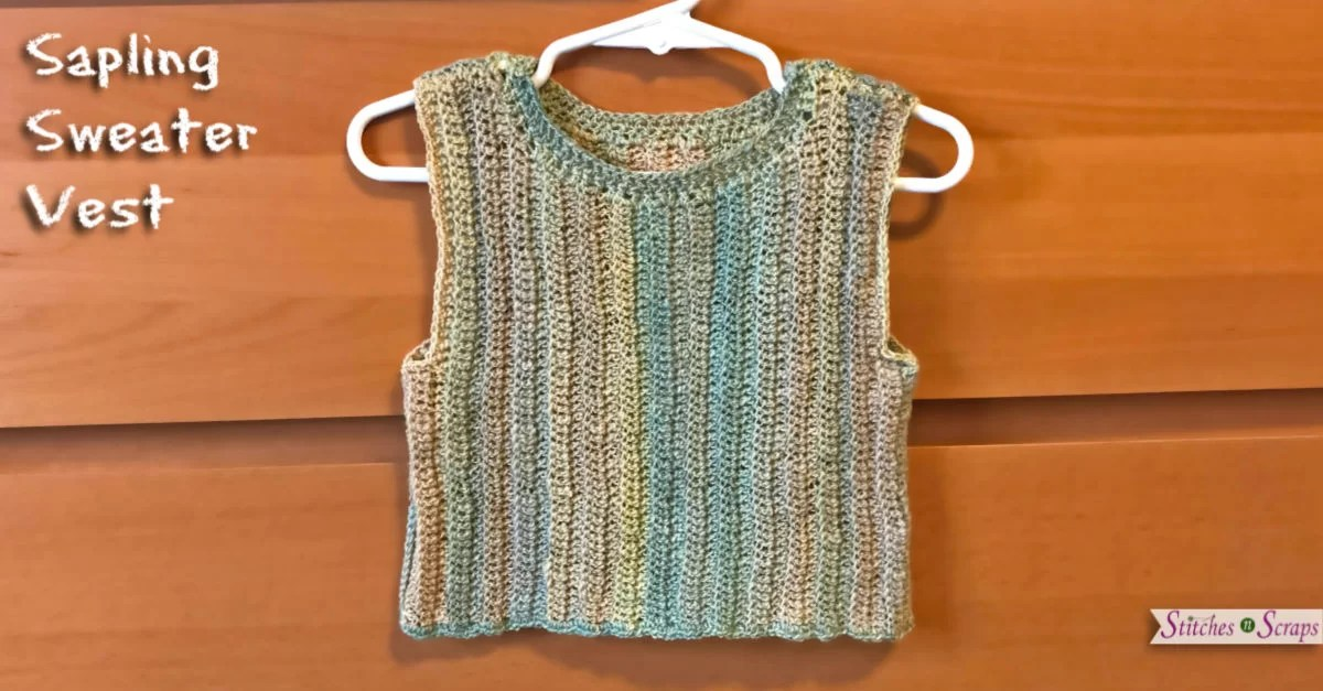 Free Pattern Sapling Sweater Vest Stitches N Scraps