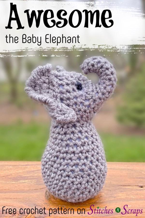 Amigurumi baby elephant | Lucy the Elephant pattern | lilleliis | 900x600