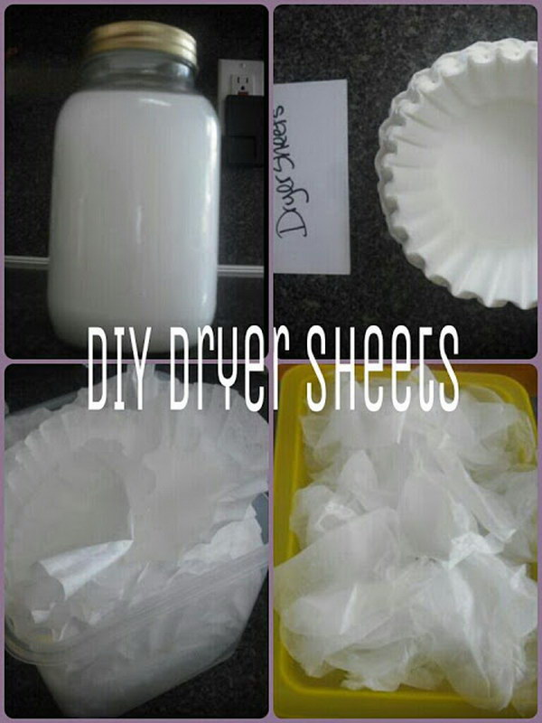 10 homemade dryer sheets - Homemade Dryer Sheets with Lots  of Tutorials