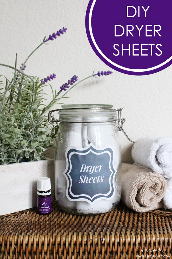 6 homemade dryer sheets - Homemade Dryer Sheets with Lots  of Tutorials