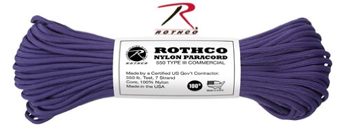 PURPLE-550LB-NYLON-TYPE-III-PARACORD-ROPE-100-FEET-0
