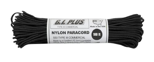 Parachute-Cord-Nylon-7-Strand-550lb-Tested-US-MADE-100Black-0