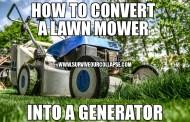 DIY Generator: Convert A Lawn Mower Into A Generator