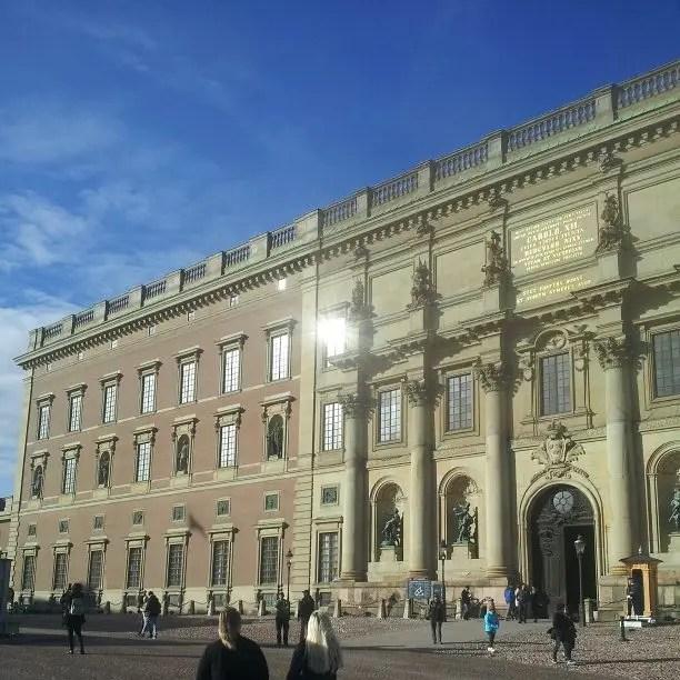 Palacio Real en la capital de Suecia - Svea y Pablo