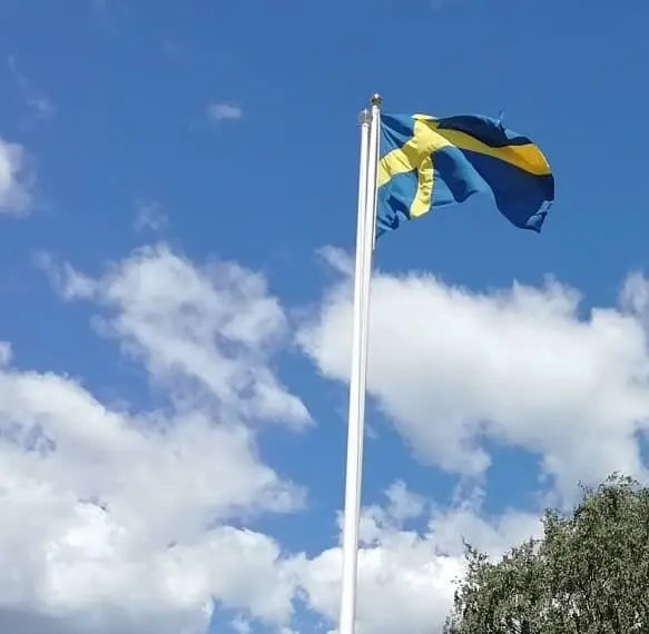 El día nacional y la bandera de Suecia - Svea y Pablo 2