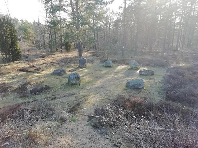 Svea y Pablo - Vista del cementerio de Björketorpsstenen