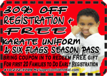 summer camp uniform coupon red