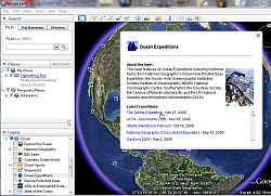 Screenshot of Google Earth with Ocean Expedition Layer