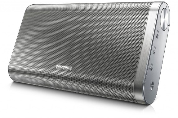 SAMSUNG-DA-F61-EN_008_Right-Angle_silver-WAP-Bluetooth-Speaker-High-Resolution-Large-Image