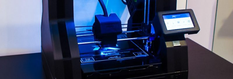 John Biehler Cool 3d printer led black blue lights ces 2015