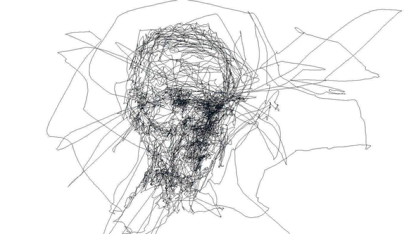 Line Drawing Eye : Sketch with your eyes using eye tracking technology