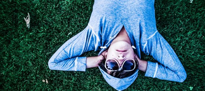 person, male, man, young, boy, lifestyle, fashion, cool, casual, hoody, sunglasses, lying, relaxing, chillout, sleeping, outdoors, meadow, grass, park, summer crop