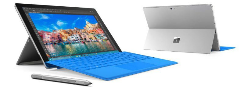 Microsoft Surface Pro 4 Front and Rear