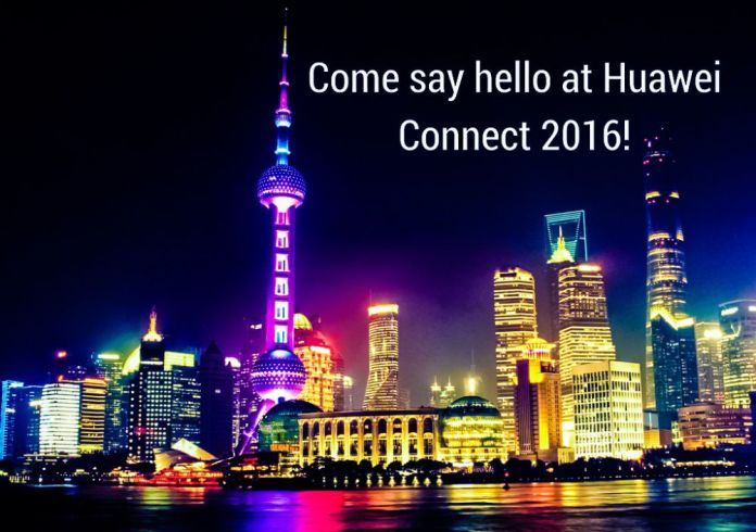 Huawei Connect 2016 Colorful Photo City Water Surface Reflection Night Comp