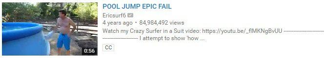 POOL JUMP EPIC FAIL