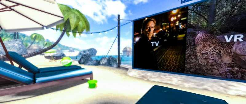 Hulu VR Social Entertainment Environment Beach 360 Vacation New Way of Watching Shows