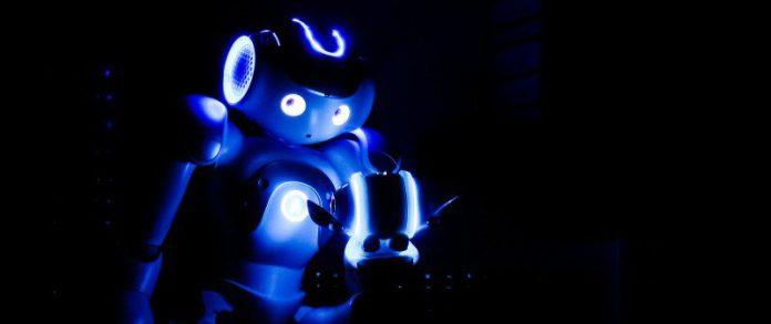 Nao Robot Small Tiny Dark Posing Photos Automation of Work Business Enterprise Office Programming Timeline Chart Benefits Comparison