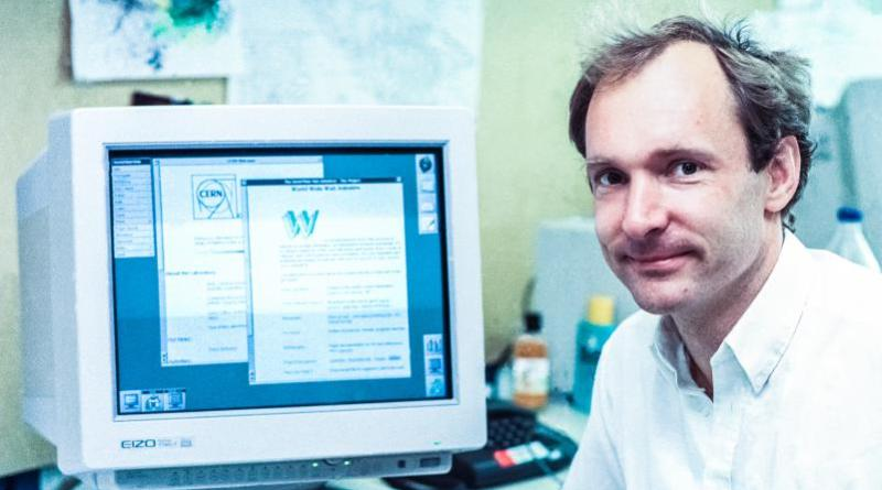 Sir Tim Berners-Lee TimBL English computer scientist working in Switzerland at CERN from 1980 to 1994