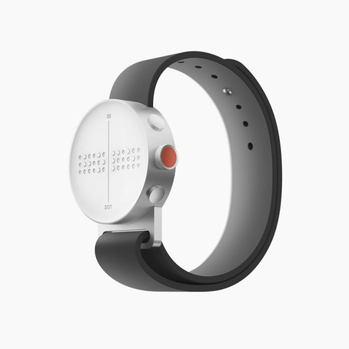Dot Watch Braille smartwatch South Korea Design Innovation Blind Wearables Product Photo