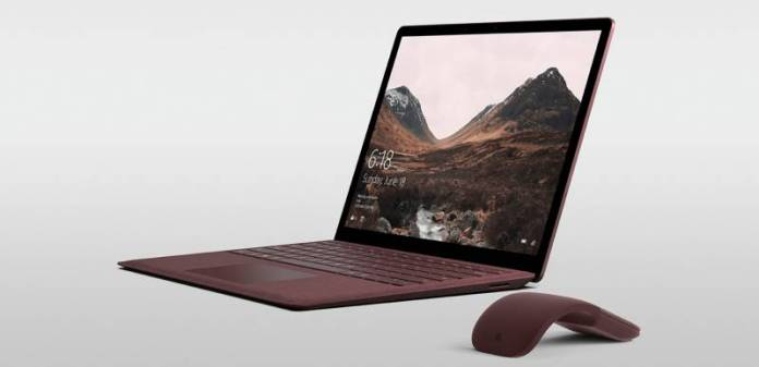 Microsoft Surface Laptop Burgundy Option Review Arc Mouse Demo Product Shot