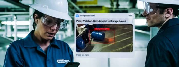 Policy Violation Spill Detected Storage Area Barrel Fell Down Foreman Safety Risk Microsoft Innovation Concept