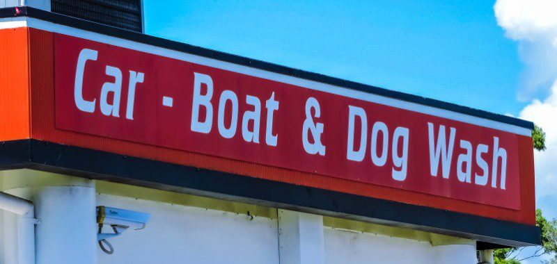 Car Boat Dog Wash Sign Funny Marketing Examples