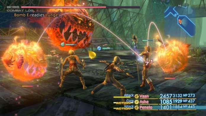 Final Fantasy XII The Zodiac Age Screenshot HD Fighting Mode Example Mobs Monsters Cheat