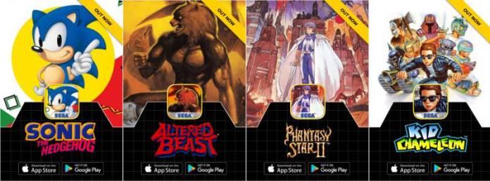 Sega Forever Mobile Retro Games Sonic Altered Beast Kid Chameleon