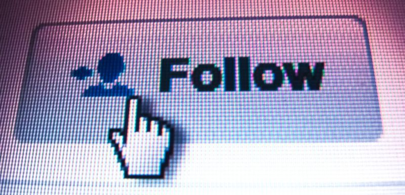 Follow on Twitter Social Media Button Click