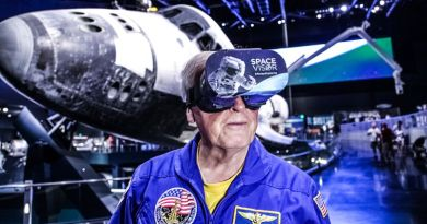 Jon McBride Space Visor VR Kennedy Space Center Museum Science AR