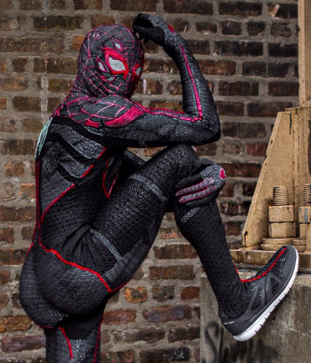Spiderman Costume Goodwill Sony Contenst Urban Photo Brick Wall
