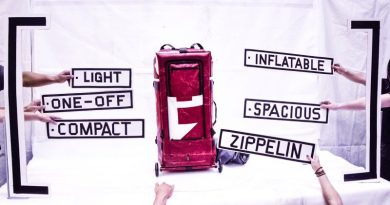 Want a Unique Style? Try the ZIPPELIN Inflatable Travel Bag!