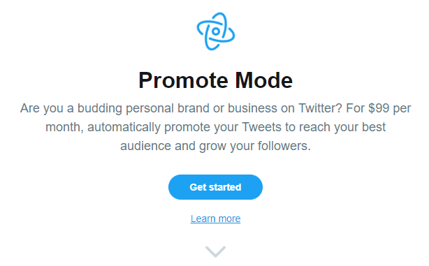 twitter promote mode screenshot beta