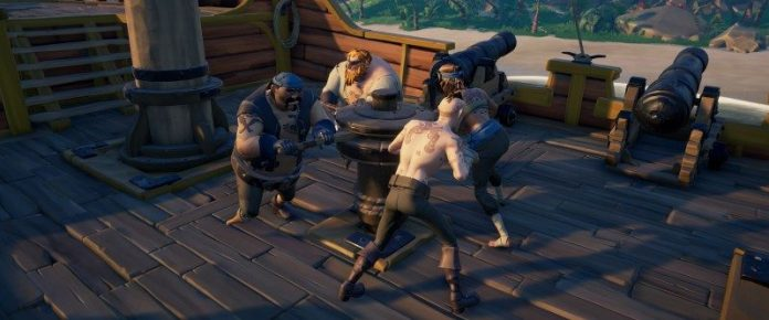 Sea-of-Thieves-Review-Coop-Teamwork-Collaboration-Ship-Pirate-Crew-Members-Multiplayer