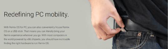 Bootable Remix OS