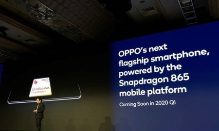 Alen Wu, OPPO Vice President and President of Global Sales, delivers a keynote Speech at the Qualcomm Snapdragon Tech Summit