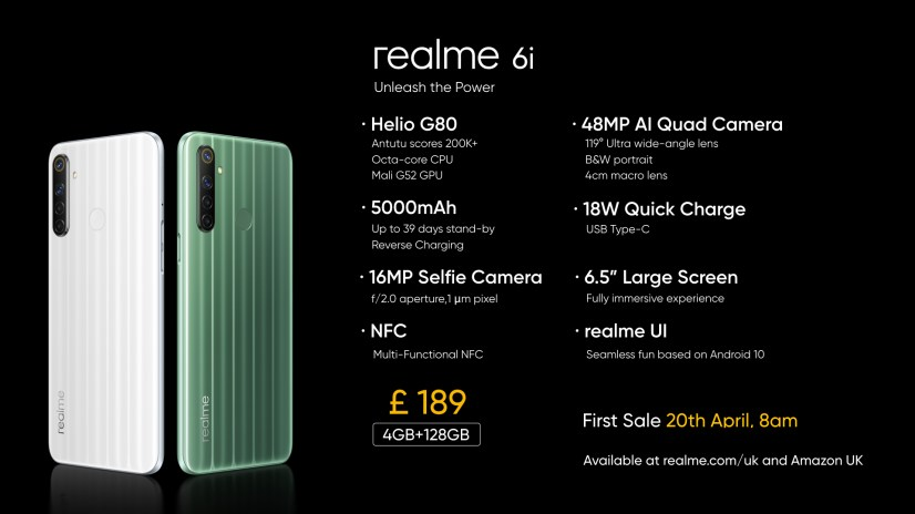 Realme launches the Realme 6 and 6i in the UK 12