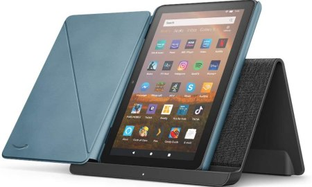Fire HD 8 Plus Tablet 2020 with wireless stand