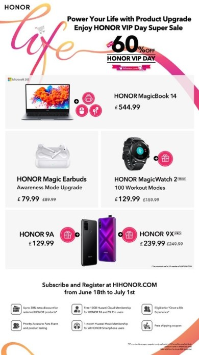 HONOR announces new products and exclusive VIP Day promos 5