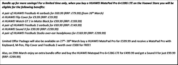 Huawei MatePad Pro LTe in midnight Grey bundle