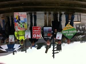 Sinn Fein Protest Held in Bantry Against Anglo Handover