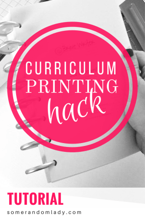 Curriculum Printing Hack, Tutorial, Pinterest Pin