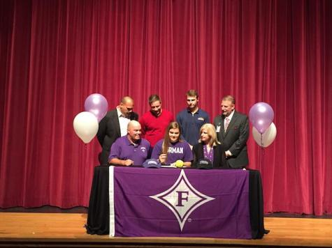 Marissa Guimbarda, softball, signs with Furman University