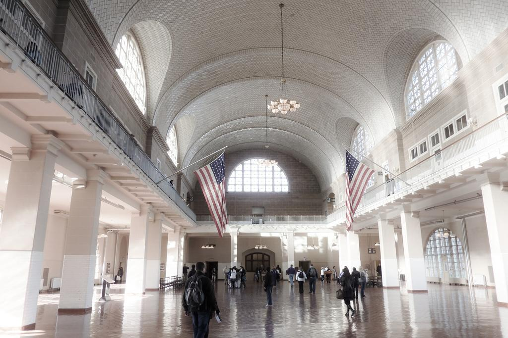 The Grand Hall of Ellis Island will be much busier now sending Americans back to their European countries of origin.