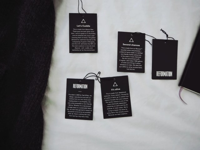 Sustainability Communication hangtags
