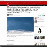 UFOs Were Just Spotted Above Kansas City, No One Knows What They Were