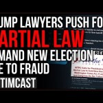 Trump Lawyers Push Call For MARTIAL LAW As More Evidence Of FRAUD Emerges, DEMAND New Election