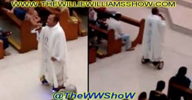 Priest suspended for using hoverboard during Christmas Eve Mass